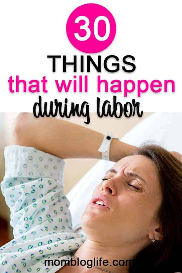 Things that will happen during labor