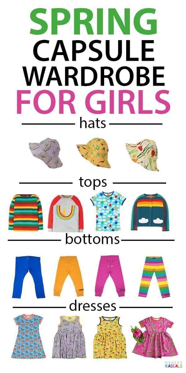 Spring & Summer Capsule Wardrobe for Girls